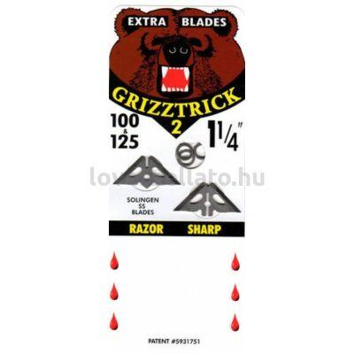 """Slick Trick GrizzTrick II 1 1/4"""" vadászhegy cserepengék (4 db)"""