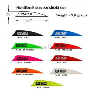 AAE Arizona Plastifletch Max Vanes 2.0 gumi toll - Shield - fehér